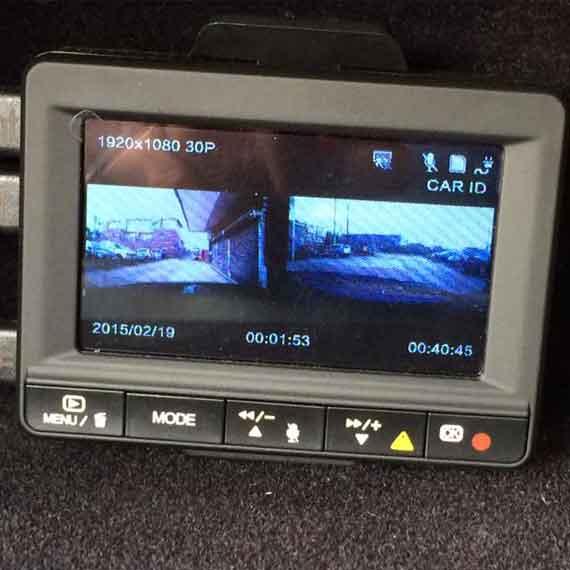 Hidden 2 Car Dash Camera 2CH DVR Front and Rear