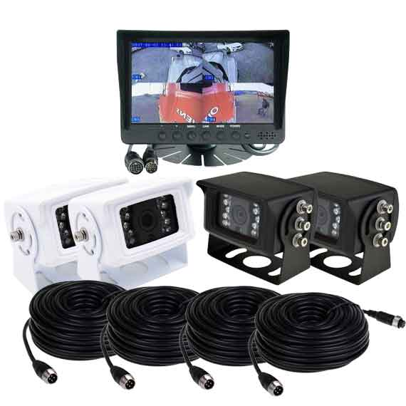 "PPA 7"" QUAD Dash Mount Reversing 4 Camera System"
