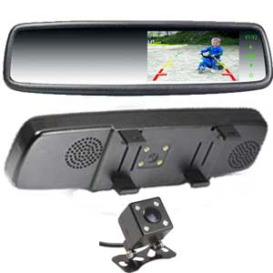 4.3″ Rear-View Mirror Monitor Clip Over Type