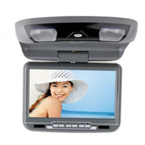 "9"" Wide Screen LCD 360° Swivel Flip Down Monitor With Built-In DVD Player - DV1028"