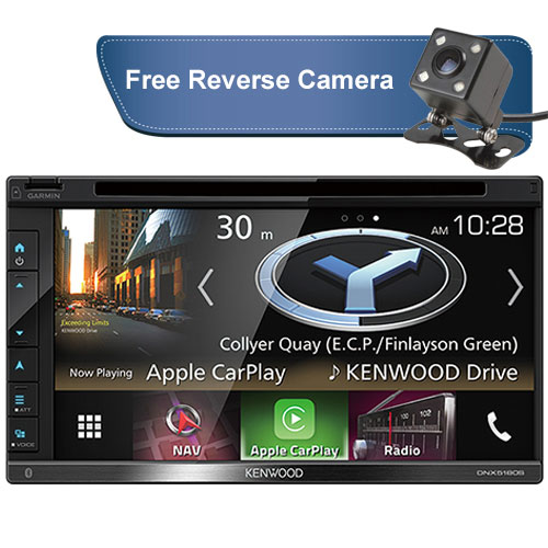 Kenwood-DNX5180S-free-reverse-camera-new