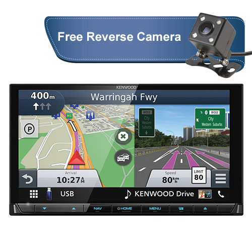 Kenwood-DNX9180DABS-free-reverse-camera-new
