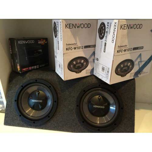 Kenwood KFC-W1012 12inch Subwoofer Complete Package