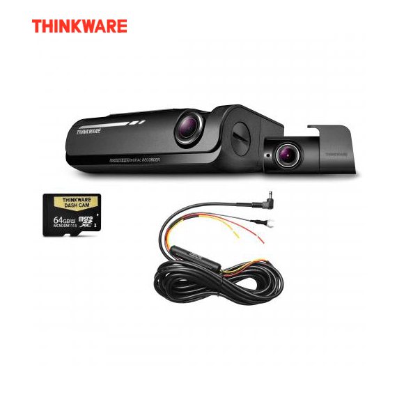 THINKWARE F770D64 DASH CAMERA 1080P HD 64GB Front & Rear Camera + HARD WIRE KIT