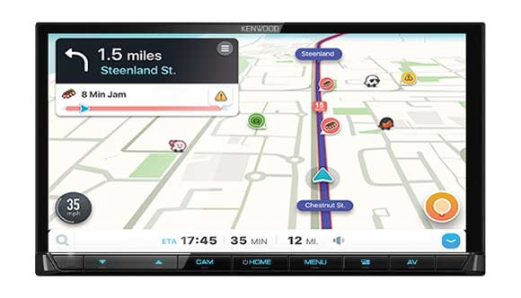 Waze Nav-App Solution via USB