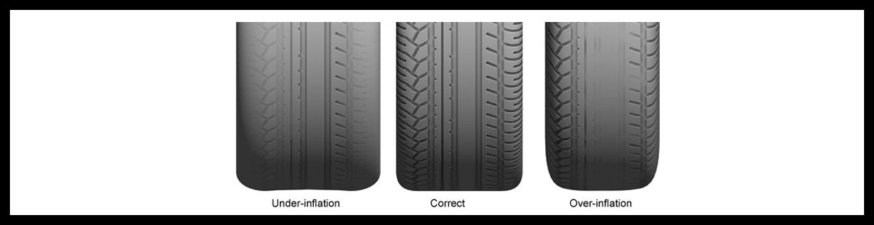 Extend the wear of your tyres with the correct tyre pressure