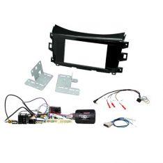 Nissan Navara NP300 ST-STX 2014-17 Head Unit Installation Kit-Gloss Black