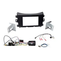 Nissan Navara NP300 ST-STX 2014-17 Head Unit Installation Kit-Matt Black