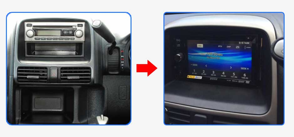 Honda CRV 2002-2006 RD Car Stereo Upgrade - PPA Car Audio