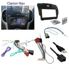 Isuzu Dmax 2012 to 2017 with Clarion Nav factory stereo Head Unit Installation Kit
