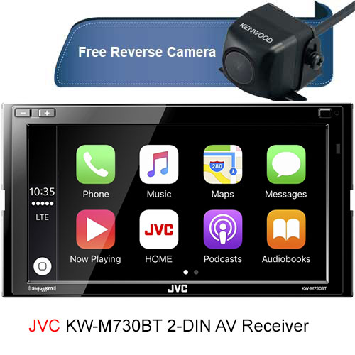 JVC KW-M730BT 6.8 inch In-Dash Car Bluetooth Receiver Android