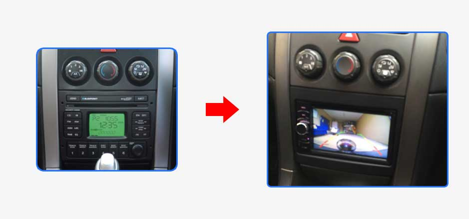 Ppa Holden Commodore Vy Series I Car Stereo Upgrade Before After Headunit on Kenwood Bluetooth Car Audio Dash Unit