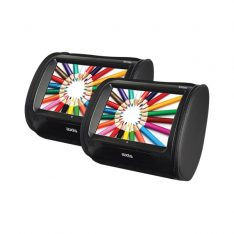 Axis 9 Inch LCD Twin Headrest Entertainment Package with Built-In DVD-CD Player