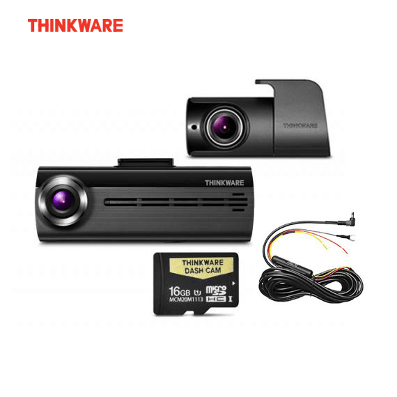 THINKWARE F200 16GB 2-CHANNEL FRONT + REAR DASH CAMERA + HWC Package