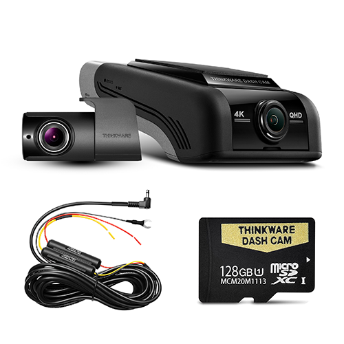 THINKWARE U4KD128 4K UHD FRONT & REAR DASH CAM (U1000) - 128GB Dual Camera Kit
