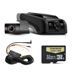 THINKWARE U4KD32 4K UHD FRONT & REAR DASH CAM (U1000) - 32GB Dual Camera Kit