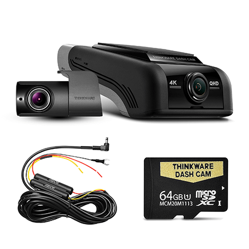 THINKWARE U4KD64 4K UHD FRONT & REAR DASH CAM (U1000) - 64GB Dual Camera Kit