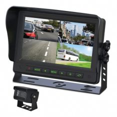 "Gator GT704SD 7"" Commercial Grade Dash Mount Quad Display Reverse Camera Kit"