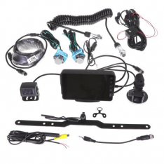 "Gator GX5TRKT 5"" Dash/Windscreen High Resolution Display Dual Reverse Camera trailer Kit"