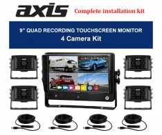 9-inch QUAD RECORDING TOUCHSCREEN MONITOR-4 Camera Kit