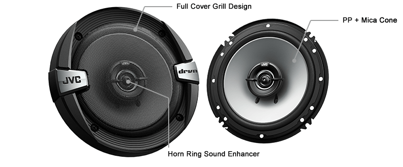 JVC CS-DR162 DRVN DR SERIES 6.5 Inch 300W 2-WAY COAXIAL SPEAKERS