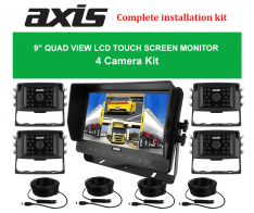 "PPA-Axis 9"" QUAD VIEW LCD TOUCH SCREEN MONITOR 4 Camera Kit"